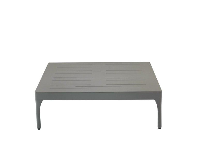Low Square garden side table Infinity Collection by Ethimo