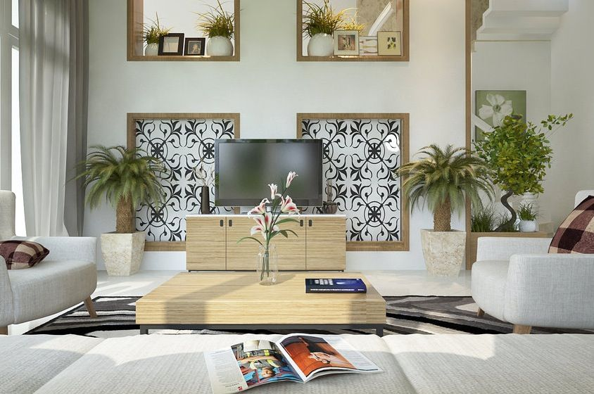Your eye travels floor to ceiling in this living room design