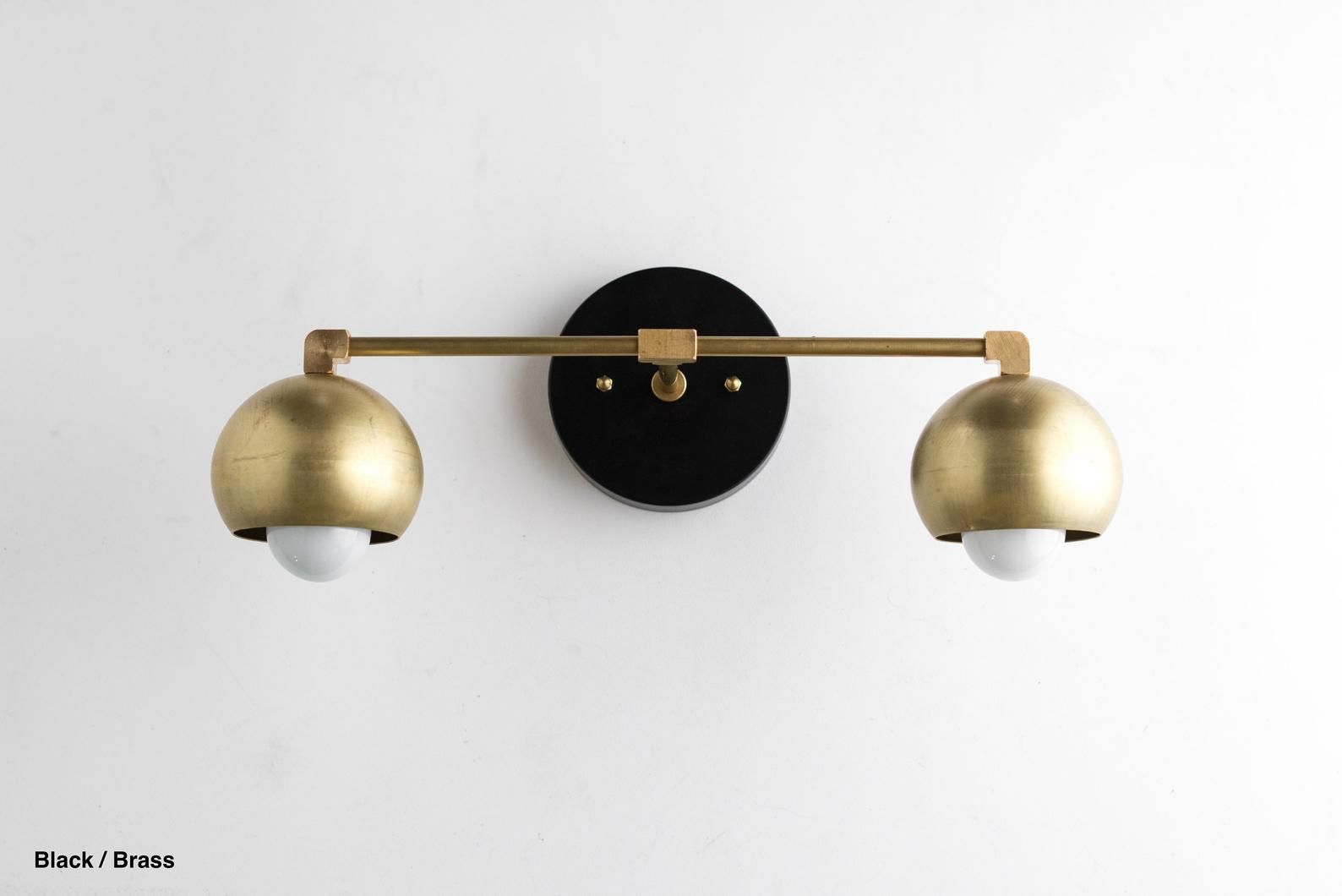 Photo of Vanity Lighting Home – Brass Bathroom Light – Mid Century Bathroom – Brass Wall Light – Model # 5469