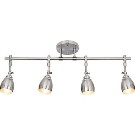 Pro track elm park collection brushed steel 4 light fixture 53787 lamps plus