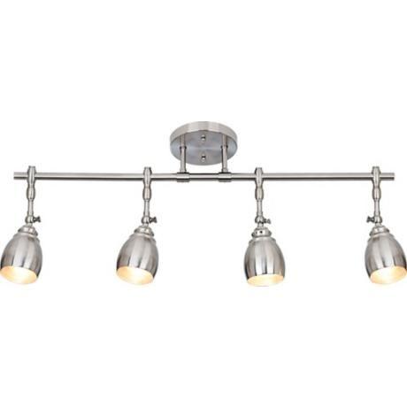 Kitchen updates   not a track lighting  Pro Track Elm Park Collection Brushed Steel 4 Light Fixture  . Diy Kitchen Track Lighting. Home Design Ideas