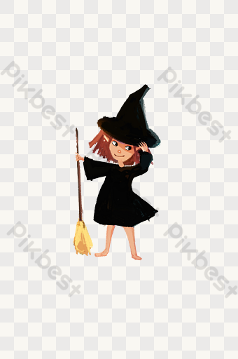 Halloween Witch Png Free Illustration Png Images Psd Free Download Pikbest In 2020 Halloween Party Poster Halloween Witch Party Poster