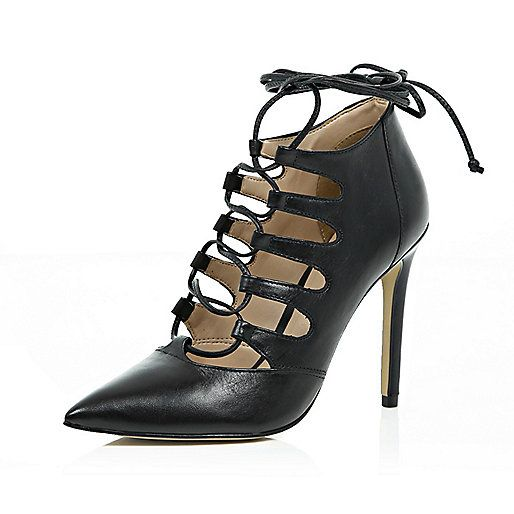 Buy Women Shoes / River Island Leather Tie Up Pointed Heels