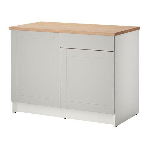 KNOXHULT Szafka stojąca, drzwi+szuflada, szary | Base cabinets ...
