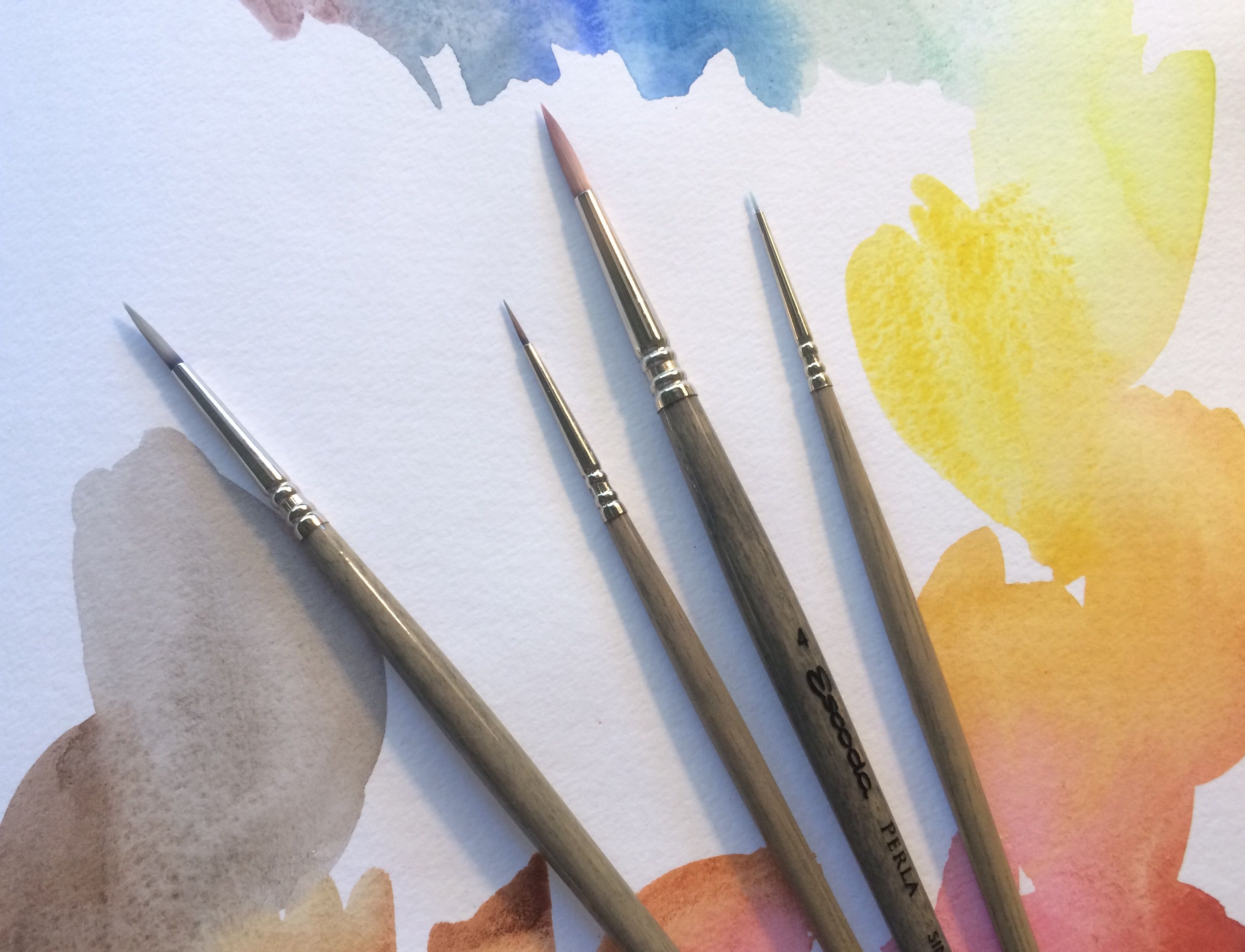 How To Choose Use Synthetic Brushes For Watercolor Interior