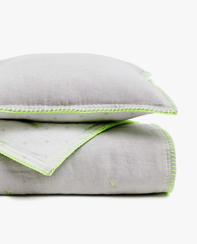Printed linen quilt   Printed linen, Zara home, Quilts