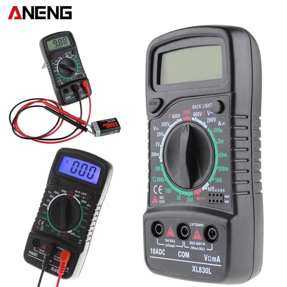 Aneng Xl830l Multimètre Numérique Portable Multi Compteur Ac Dc Mètre De Tension Dc Ampèremètre Résistance Instrumento De Medición Diodo Redes De Computadoras