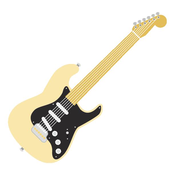 Electric Stratocaster Fender Cartoon Guitar Instrument Musical Guitar Guitar Images Instruments