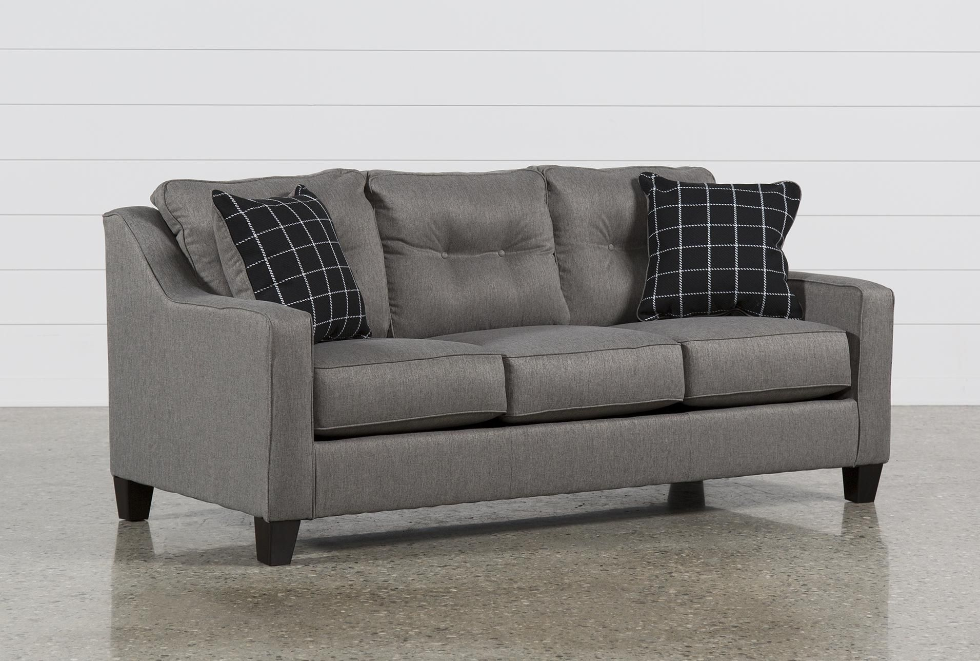 Ashley Queen Sofa Sleeper, Brindon Charcoal, Grey