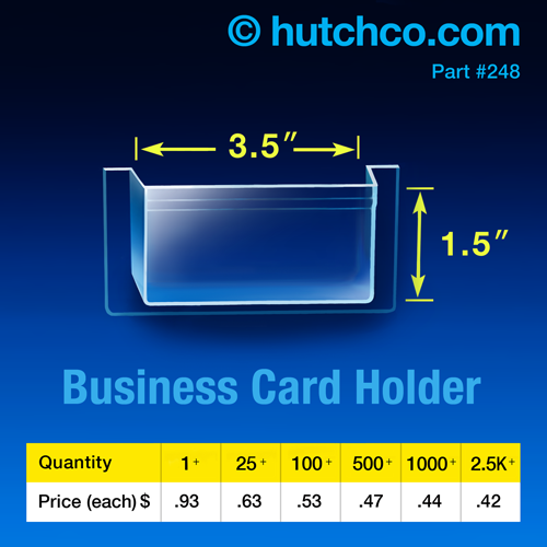Peel Stick Pockets For Countertop Displays Hutchco Business Card Holders Business Card Size Countertop Display