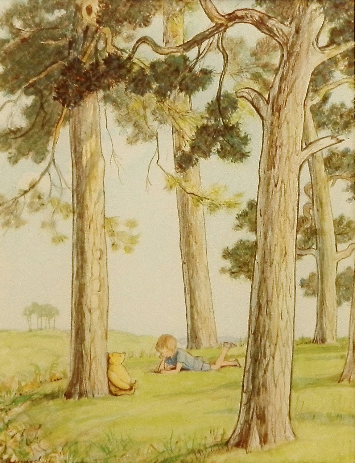 Winnie the Pooh Art, Woodland Nursery (Boys Room Print, Girls ...