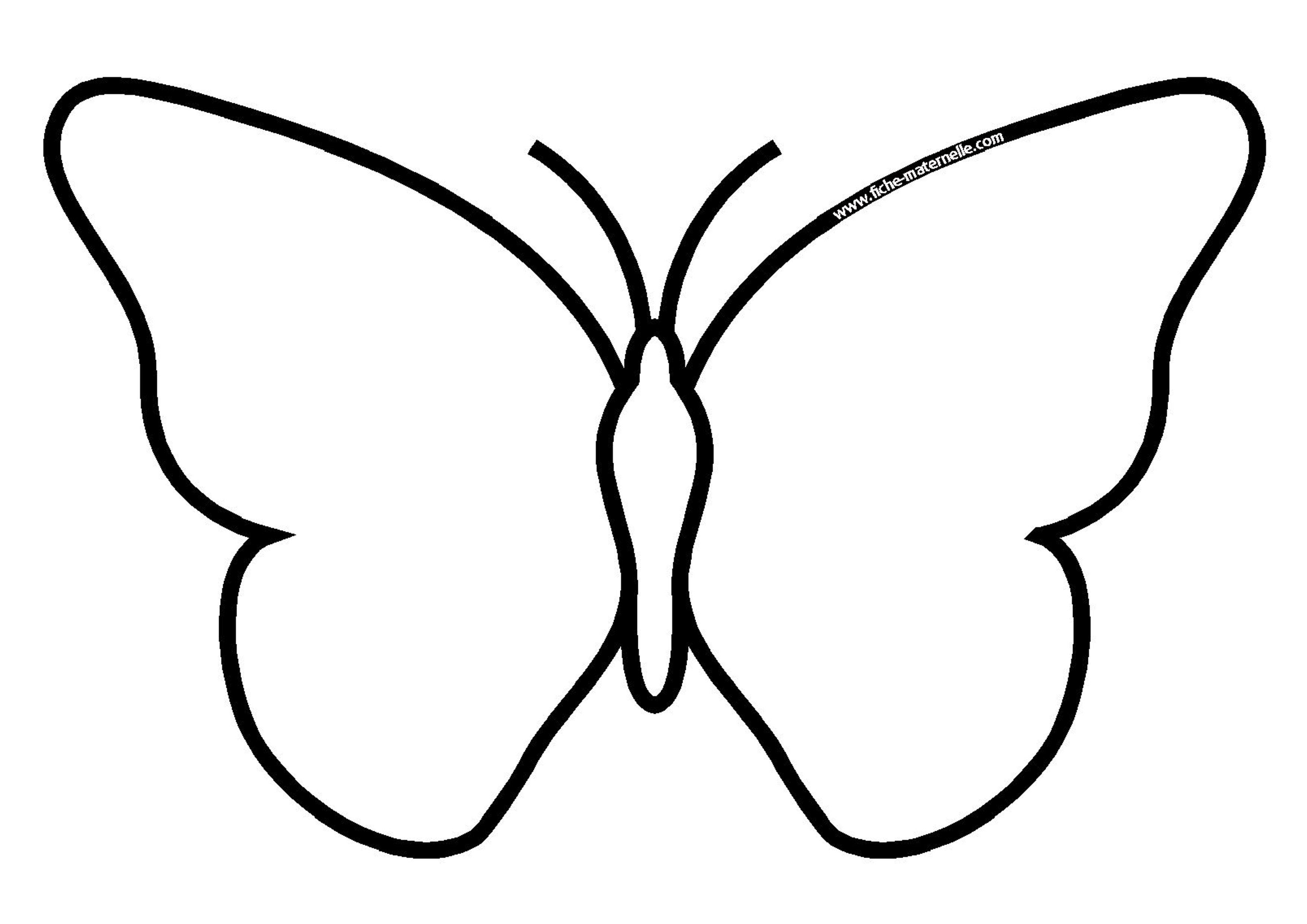 Dessin Papillon Fleur Peinture Papillons Mod Le Imprimer