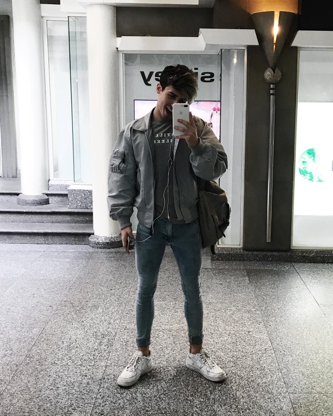 98f5b6721034 oversized bomber jackets and skinny jeans! bright blue