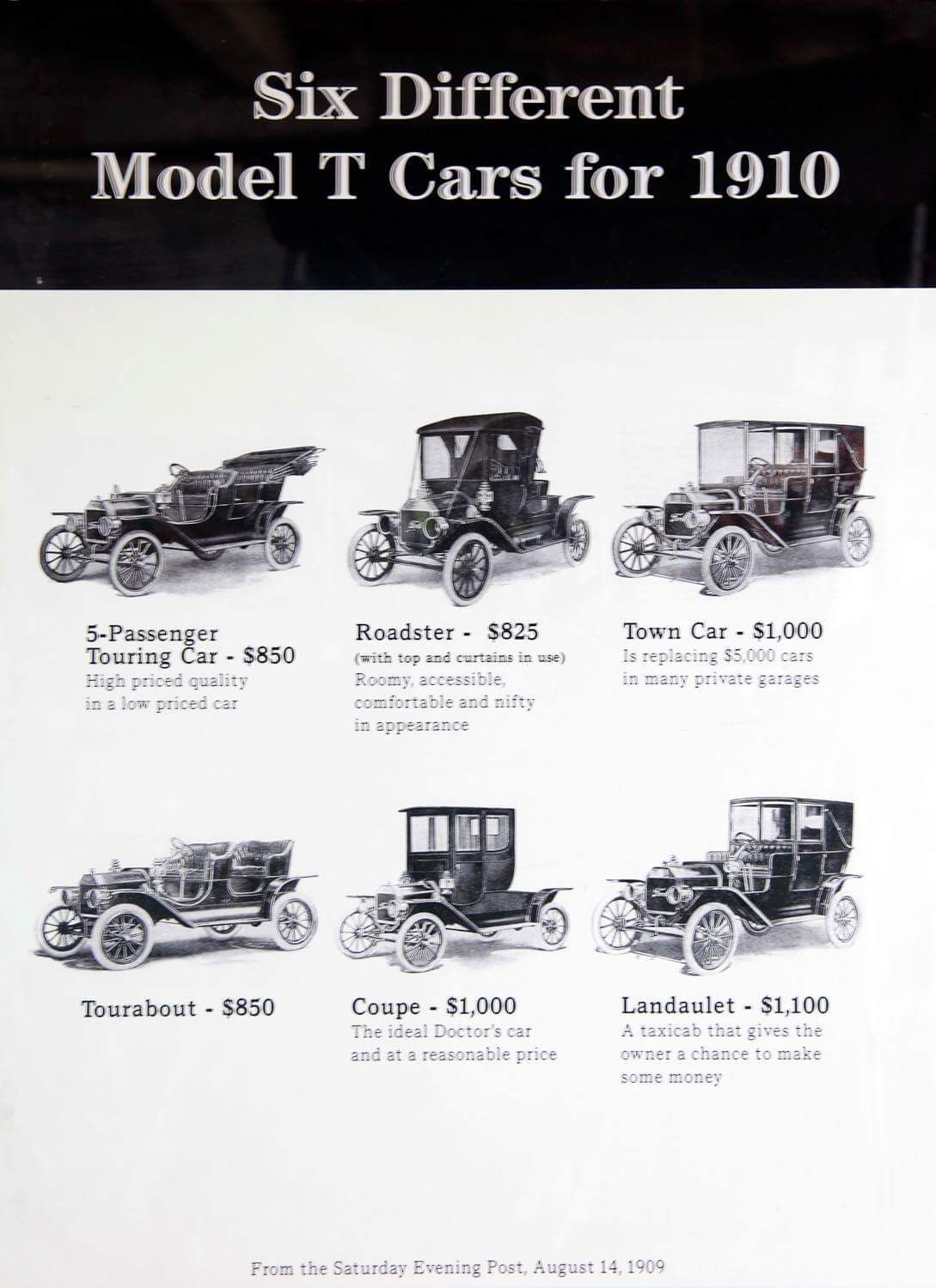Freedom Of Choice 6 Different Model T Cars 1910 With Images