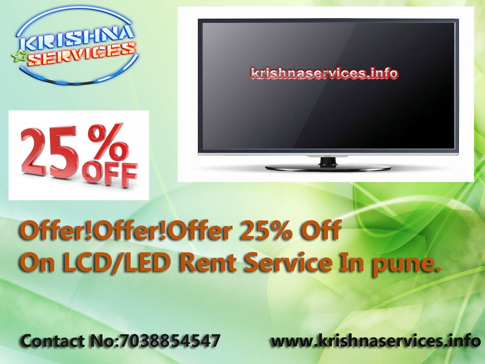 Offer!Offer!Offer 25% Off On #LCD/LED,#TV #Rent #Service In Pune.