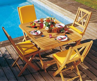 Table De Jardin 3 Suisses Table Rectangulaire En Teck Massif