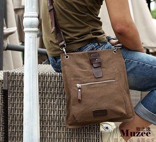c9d7bce647c4 Gorgeous Cool Coffee Men s Vintage Canvas Bag Shoulder Bag Messenger for  iPad