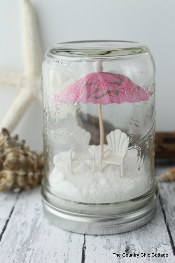 Beach Mason Jar Terrariums the perfect