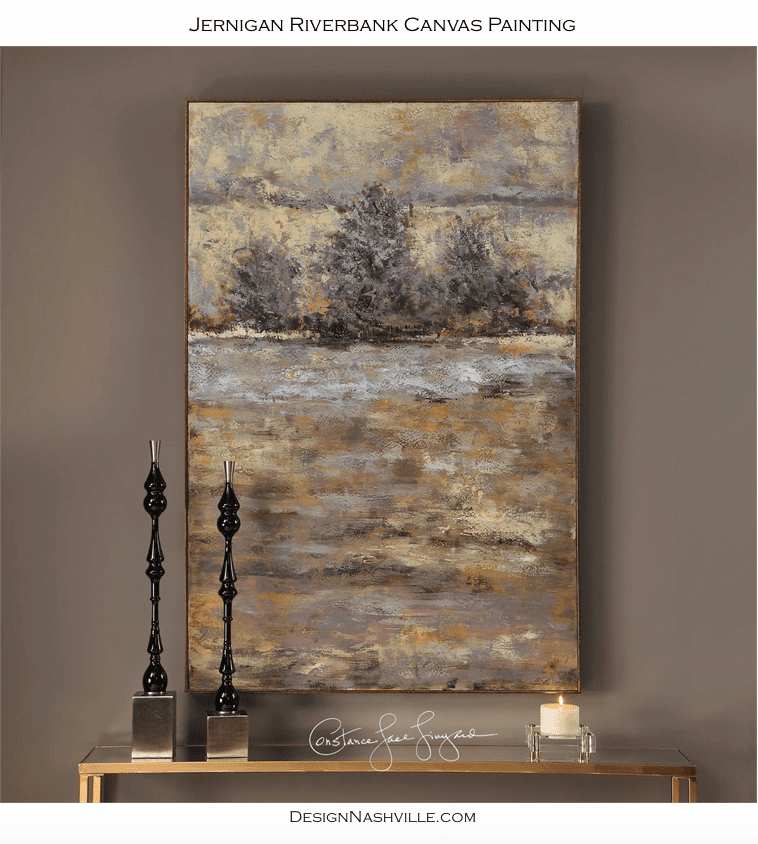 Jernigan Riverbank Canvas Painting Canvas painting