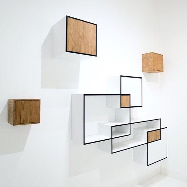 Modern Modular Shelving modular shelvingkabinet van look! #workspace #bookshelf