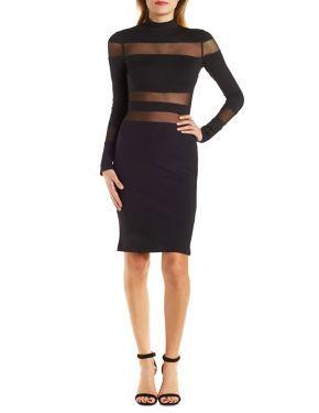 Mesh Panel Bodycon Dress #CharlotteLook