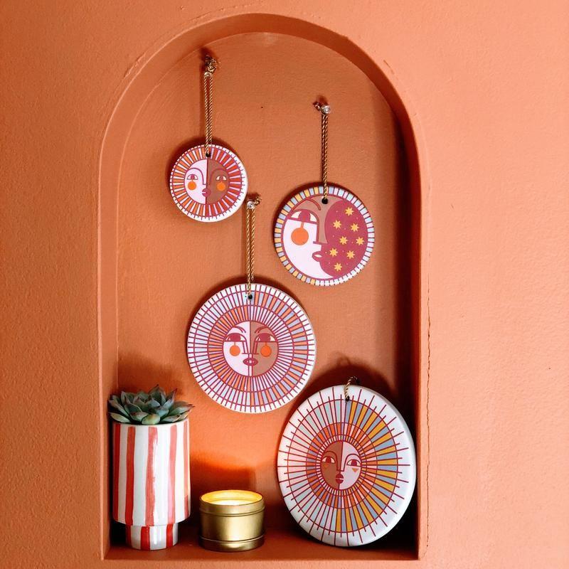 Jungalow® Ceramic Wall Hanging Set