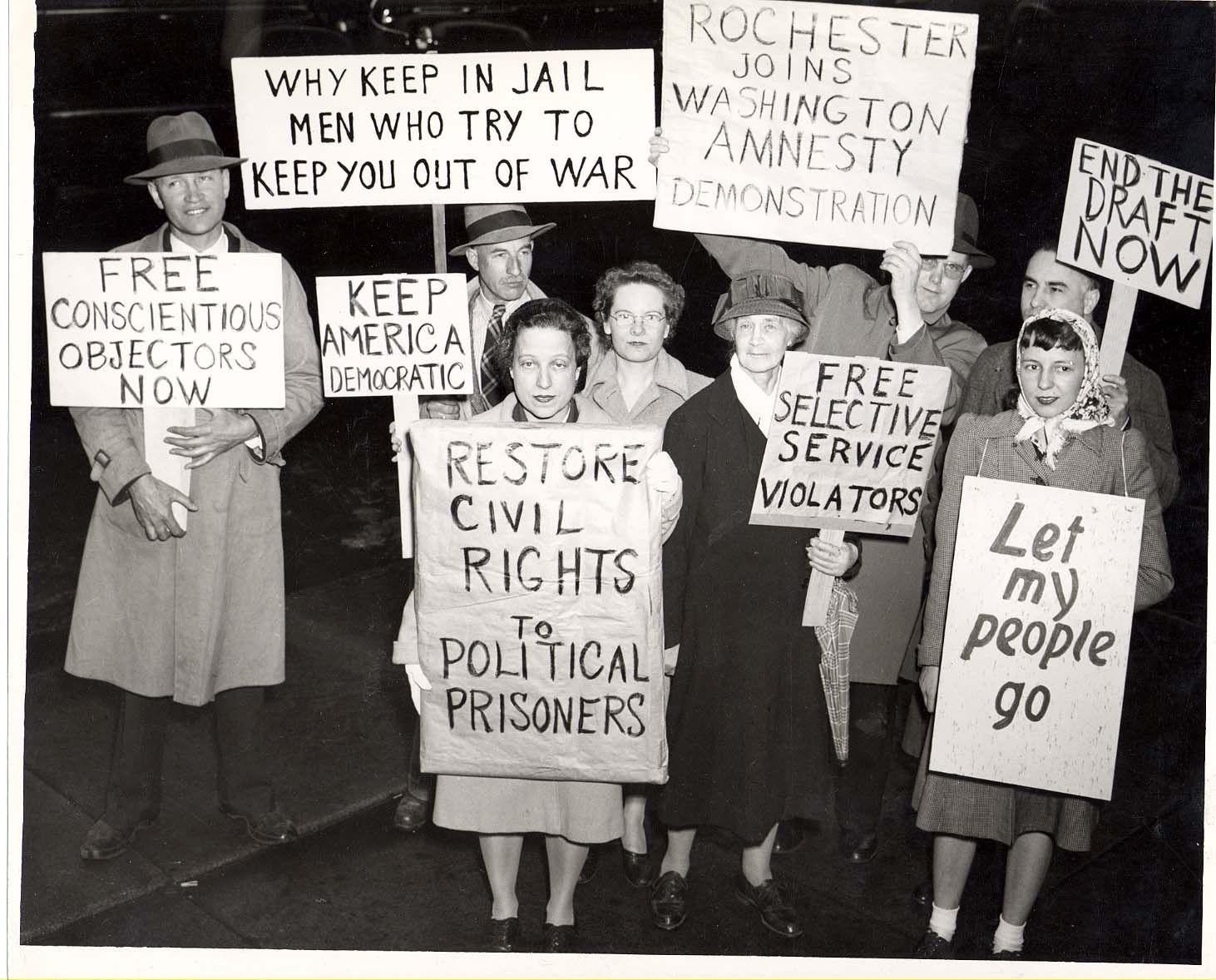 Demonstration For Amnesty For Imprisoned C O S Ca 1946 Bleeding Heart Liberal Bleeding Heart Peace