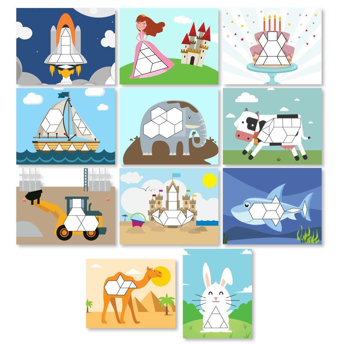 Kids Tangram Printables Pattern Blocks Dinosaur Activities Tangram [ 1171 x 1152 Pixel ]