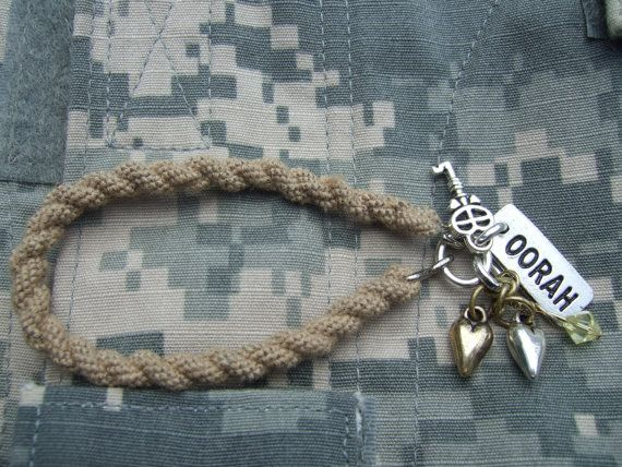 Desert Tan Boot Band Blouser Bracelet with charms  by Jennspieces, $12.00