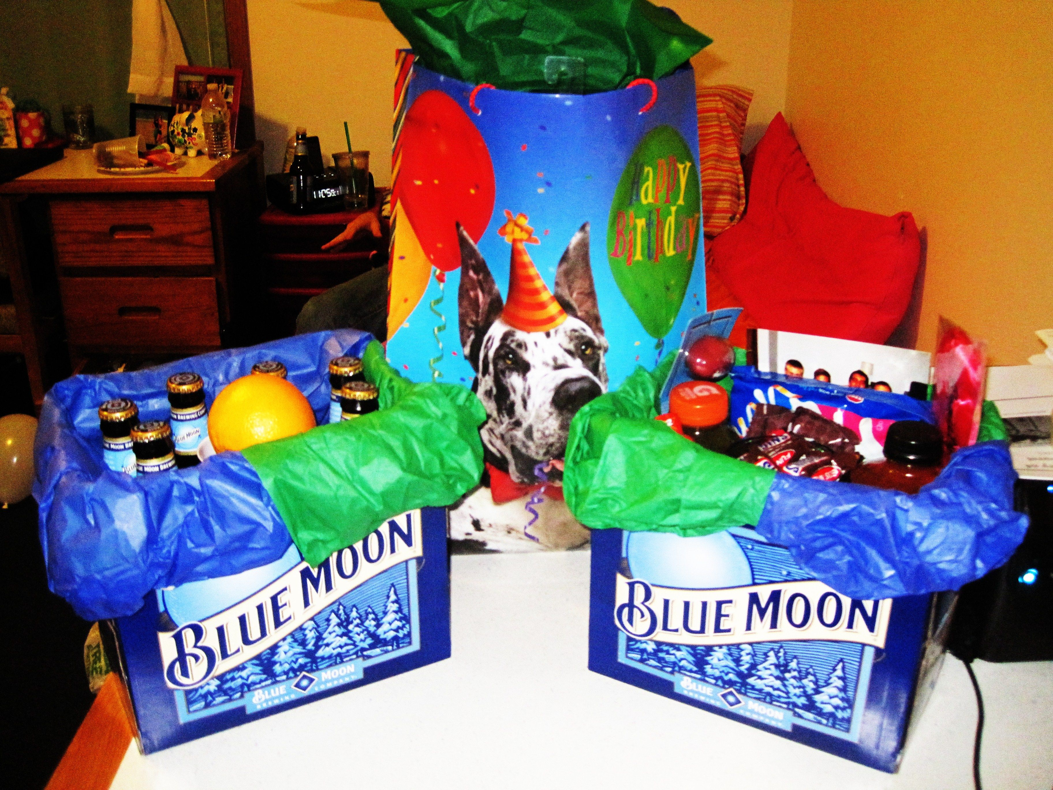Perfect 21st Birthday Gift Hangover Basket For A Guy