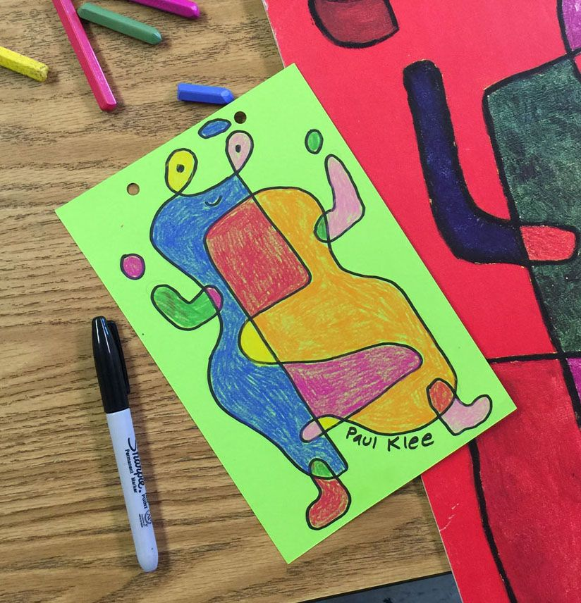 art projects for kids klee draw copy - Kids Drawing Sites