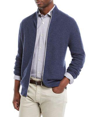 1dd6ab3ec82 Neiman Marcus Men s Zip-Front Cashmere Sweater