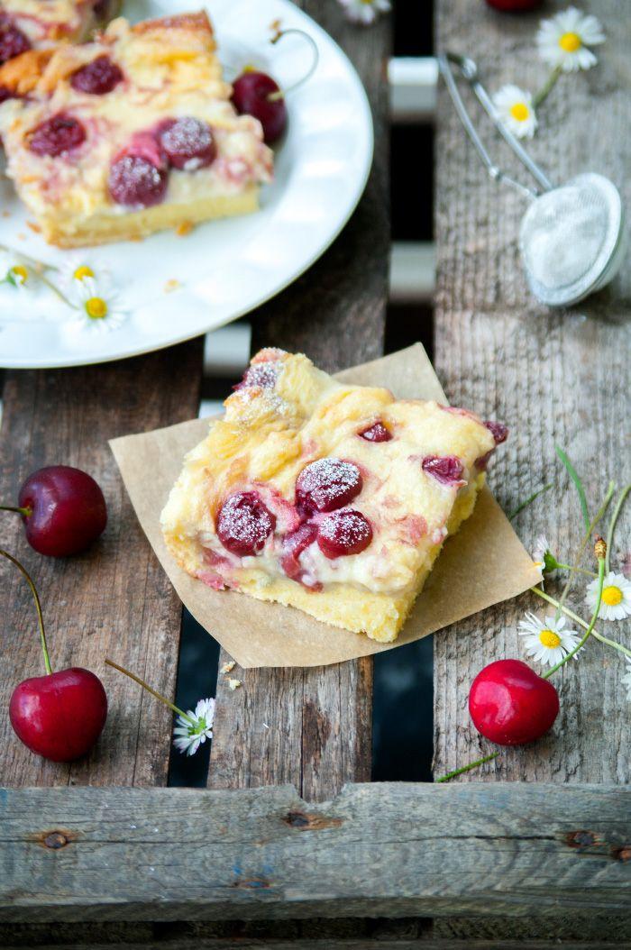 Puddingkuchen Mit Kirschen Pudding Kuchen Kirsch Pudding Kuchen Kuchen