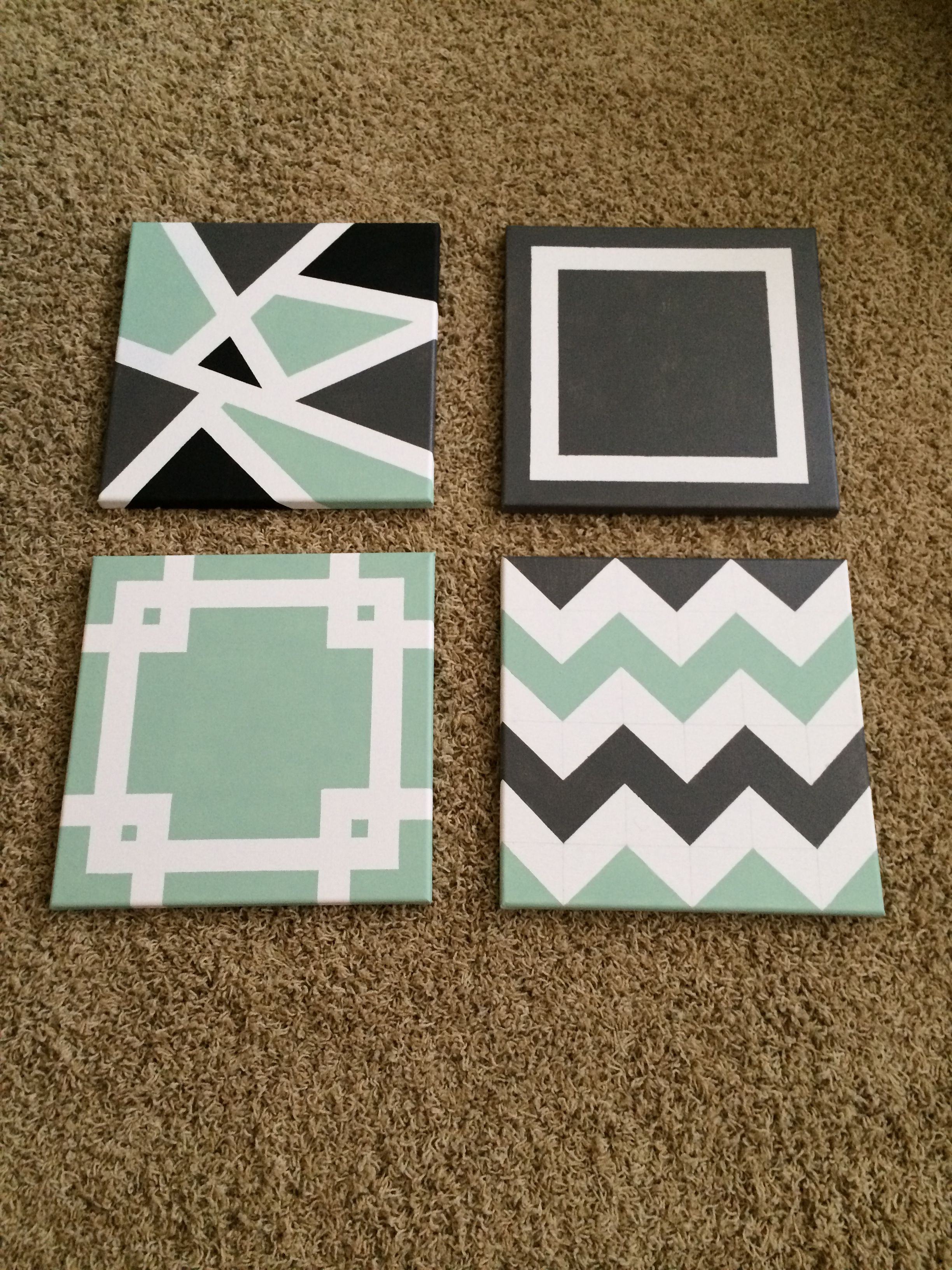 Diy Painted Canvases Painters Tape Art Painting Projects