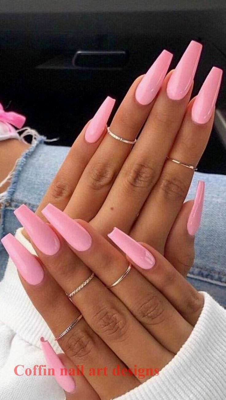 Photo of 20 TRENDY COFFIN NAIL ART DESIGNS 1  #naildesigns