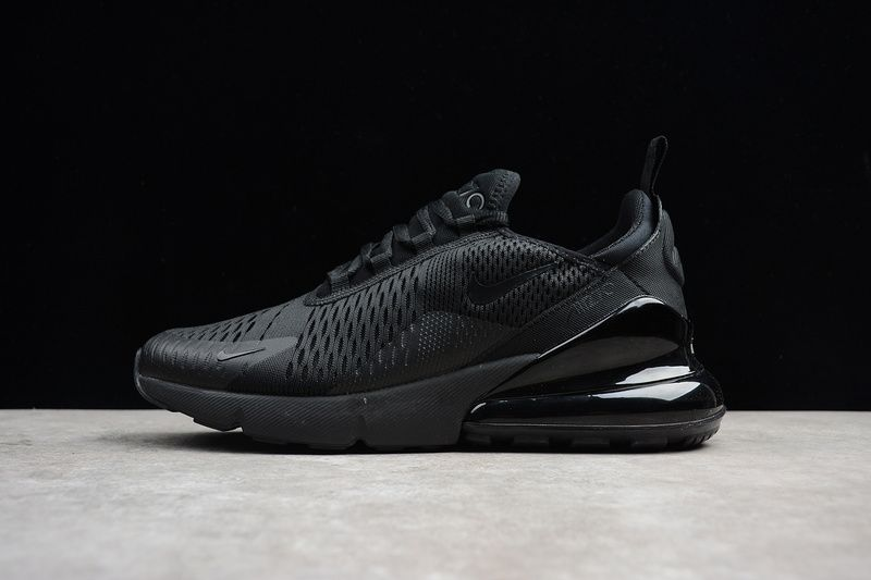 low priced 9b921 22aa0 2018 Original Unisex Nike Air Max 270 Triple Black Noir AH8050-005 Youth  Big Boys Shoes