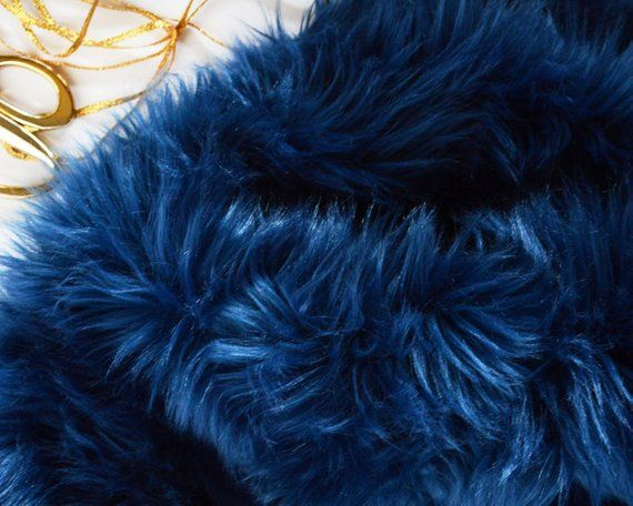 Navy Faux Fur Fabric Craft Size Squares Navy Blue Fur Fabric