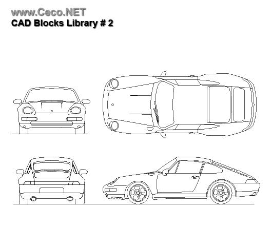 Autocad Cars Porsche Blocks 2 Dwg Png Autocad Sports Cars Luxury Porsche