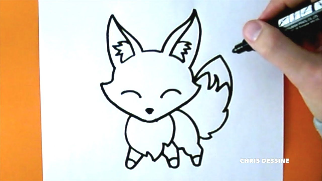 Dessin Facile Comment Dessiner Un Renard Kawaii Chris Dessine