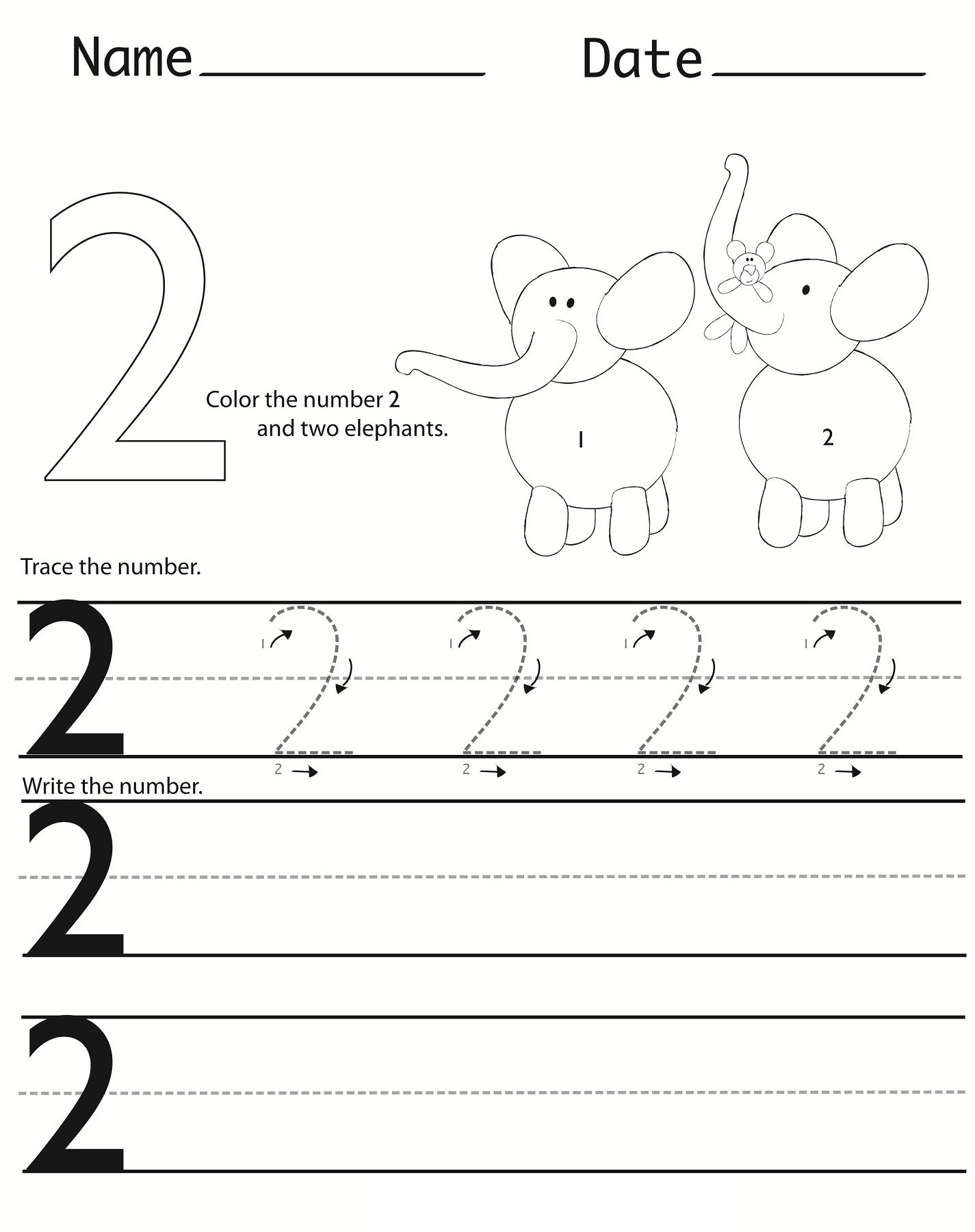 Writing Numbers Worksheets Printable   Activity Shelter   Kids ...