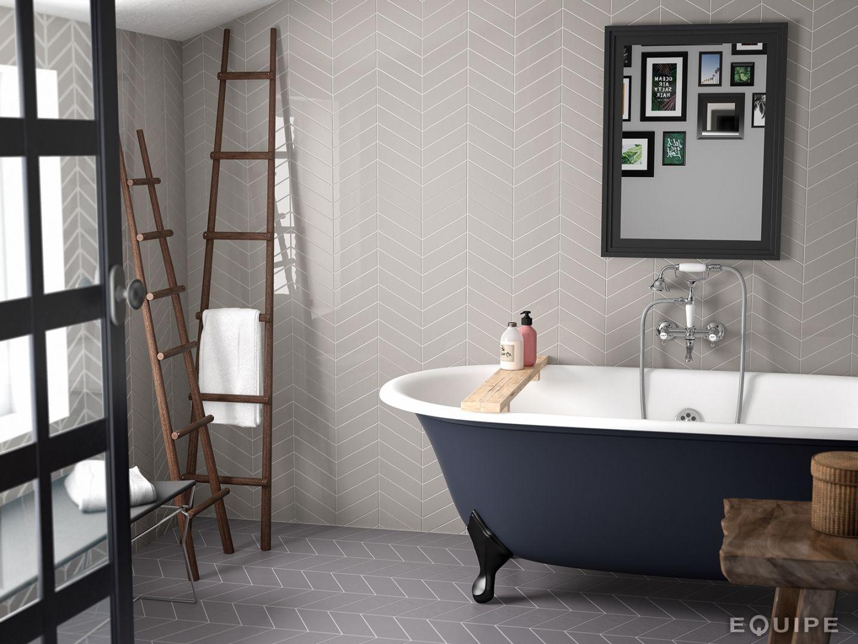 Herringbone Bathroom Wall Tile White Hexagon Mix Ireland | Boundless ...
