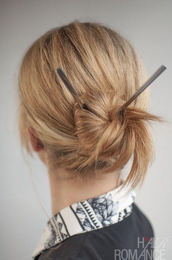 10 Japanese Hairstyles With Sticks Japanese Hairstyle Bun Hairstyles Chopstick Hair