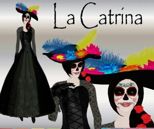 Vestuario catrina día de muertos pinterest jpg 537x451 Vestimenta catrinas  dibujos 4ea9de73e53