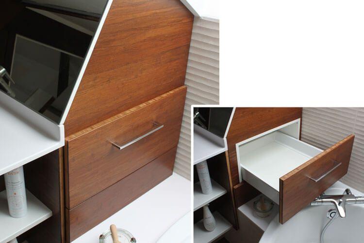 des tiroirs sur mesure pour optimiser les espaces perdus