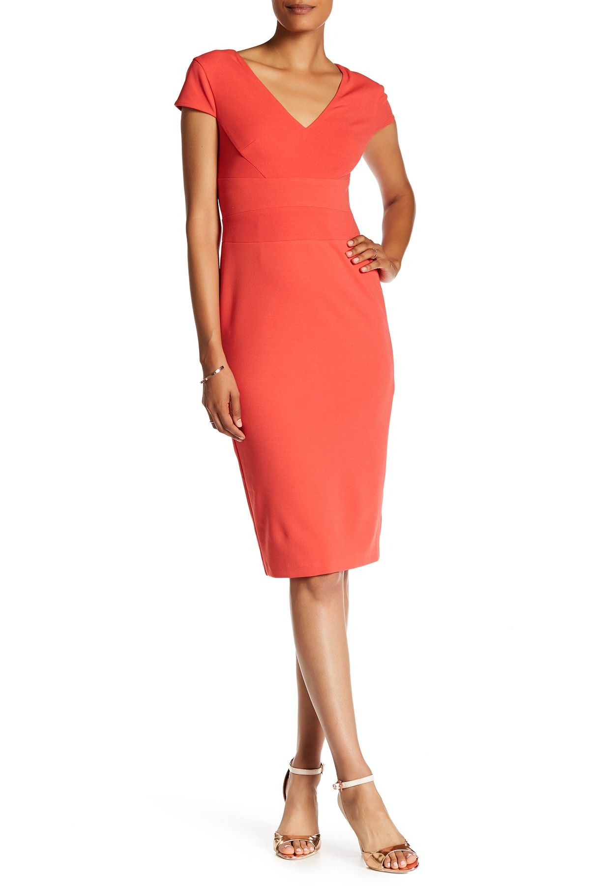36f66c57 Cap Sleeve Fitted Crepe Sheath Dress by Donna Morgan on @nordstrom_rack