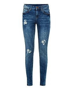 03d3a22a52e Blue Ripped Skinny Jeans | New Look | 2015 Wish List | Ripped skinny ...
