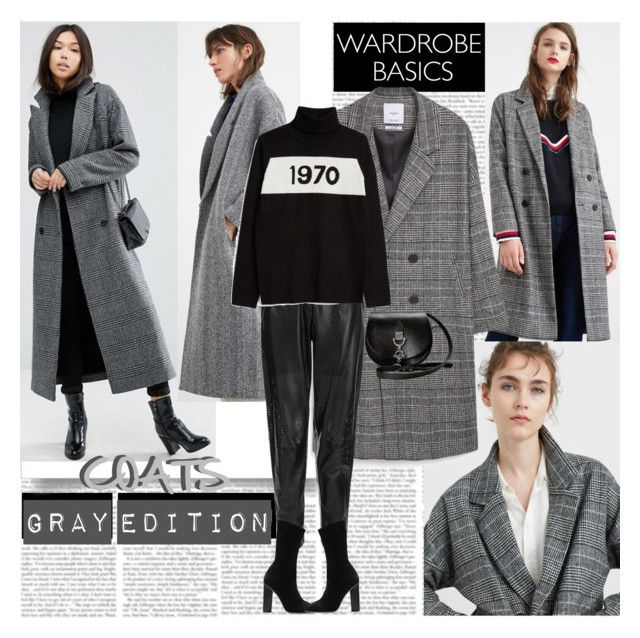 """Gray Edition Coats"" by stylepersonal ❤ liked on Polyvore featuring MANGO, ASOS, MuuBaa, Bella Freud, coats and WardrobeStaples"
