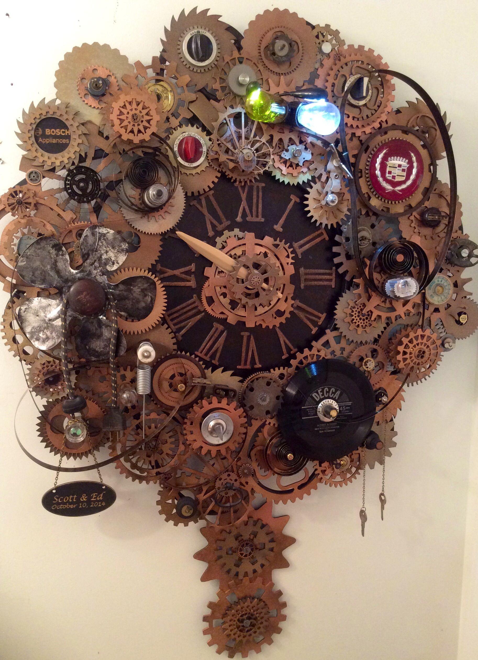 Steampunk Clock By Erin Keck Wwwekcreationsetsycom Ek Creations