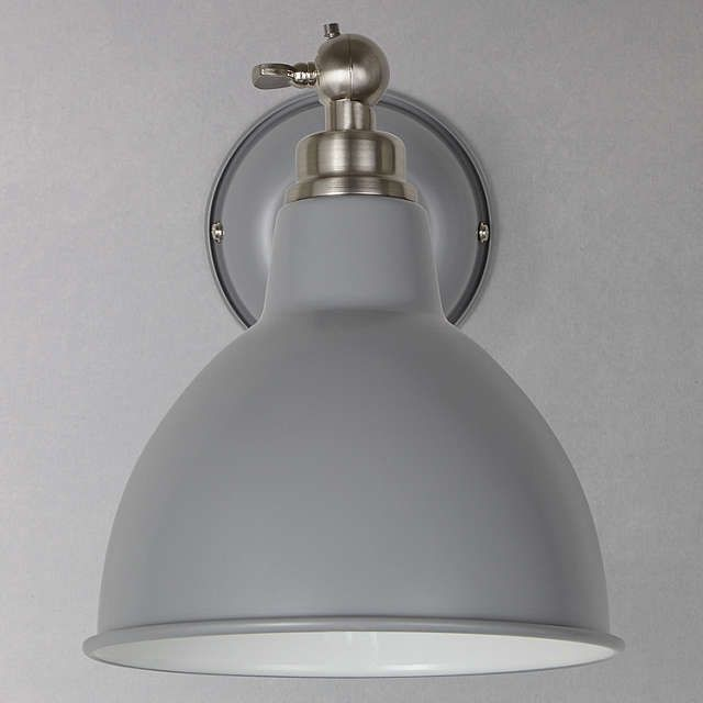 John Lewis Partners Aiden Wall Light Grey Lightings In