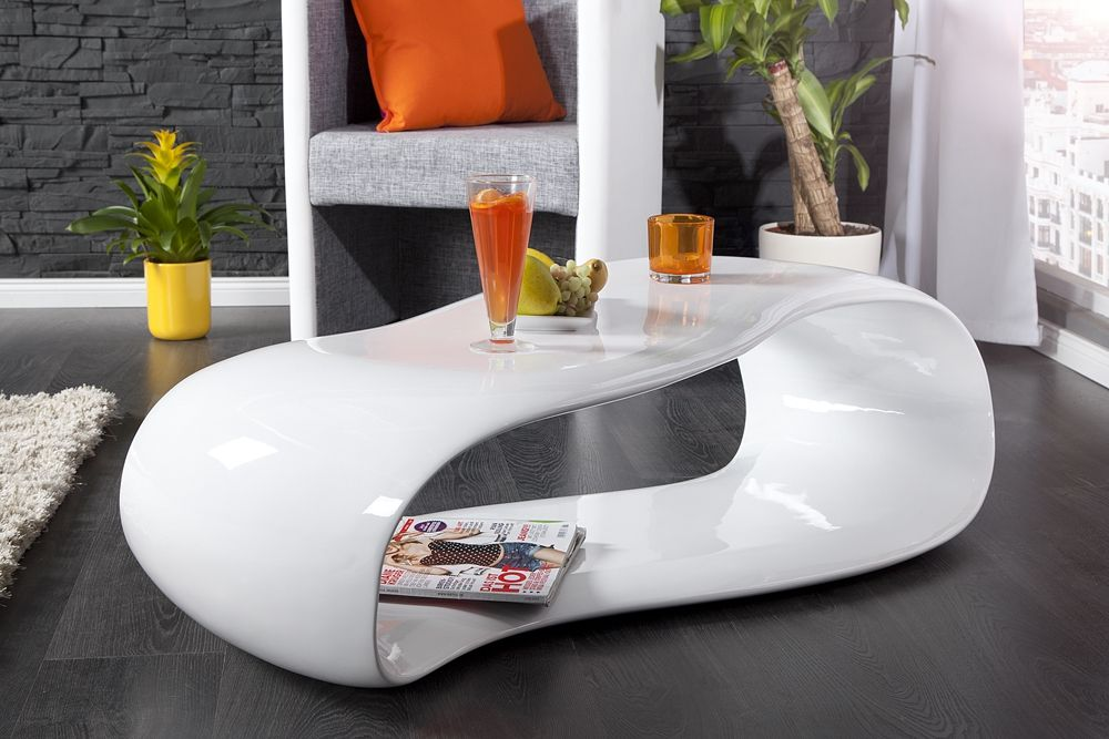 Der futuristisch angehauchte Couchtisch  - wohnzimmertisch wei rund